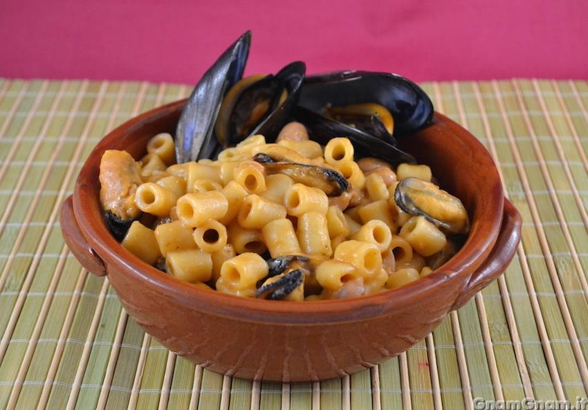 Ricetta pasta con fagioli e cozze