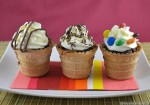 Muffin nel cono gelato