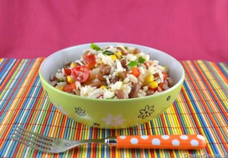 Insalata di riso alla messicana