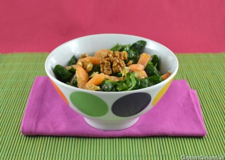 Insalata di spinaci e salmone