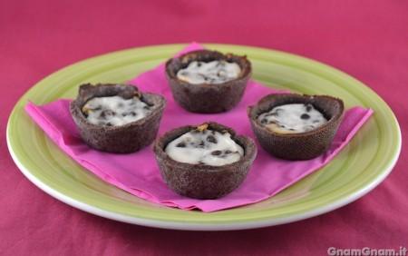Crostatine ricotta e cioccolato