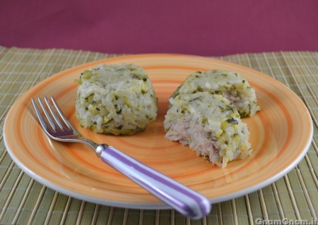 Sformatini di riso zucchine e tonno