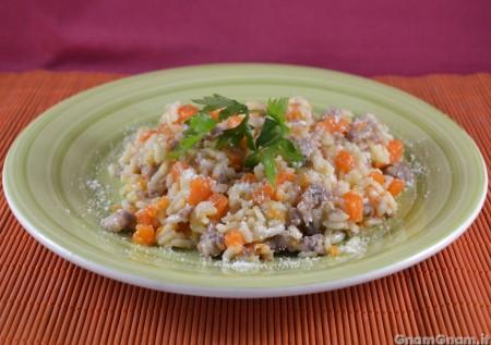 Risotto zucca e salsicce - Video ricetta