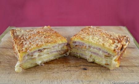 Plumcake con pane per tramezzini