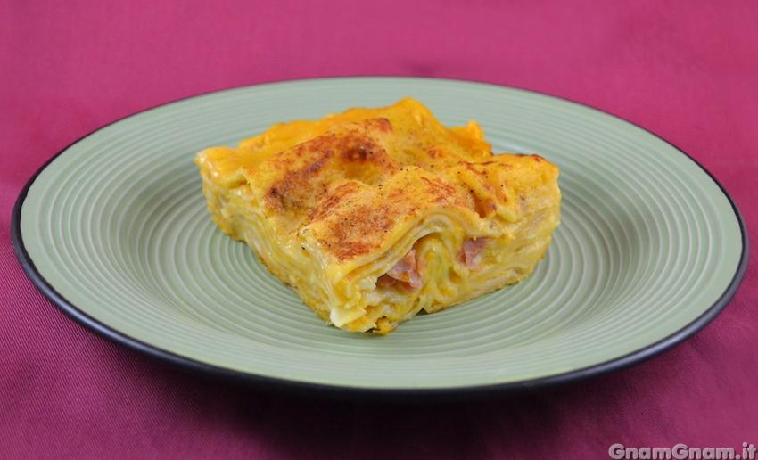 Ricetta Lasagne Di Zucca.Lasagne Zucca E Speck La Ricetta Di Gnam Gnam