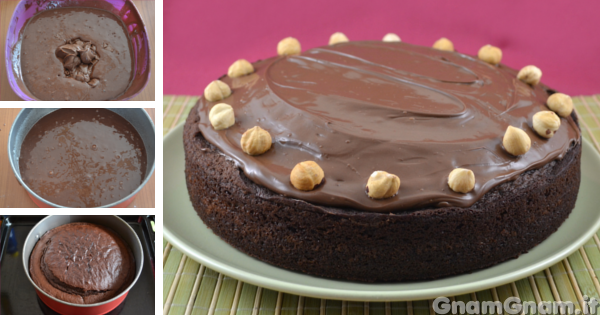Ricetta Torta Al Cioccolato Gnam Gnam.Torta Alla Nutella La Ricetta Di Gnam Gnam