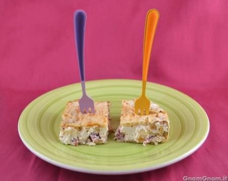 Torta salata con pane azzimo