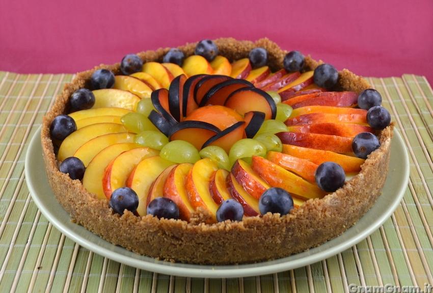 Crostata di frutta senza cottura la ricetta di gnam gnam - Contorno di immagini di frutta ...