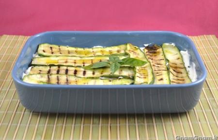 Parmigiana fredda di zucchine