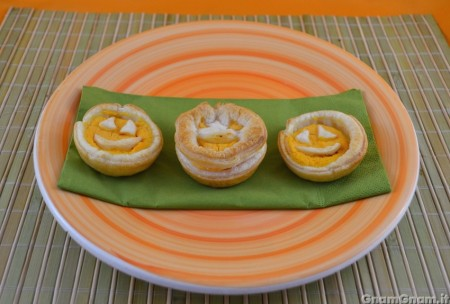 Crostatine salate di Halloween