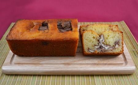 Plumcake con barrette kinder