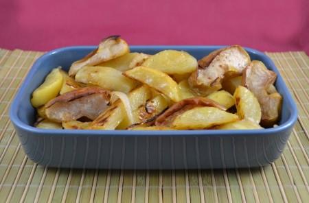 Patate e mele al forno
