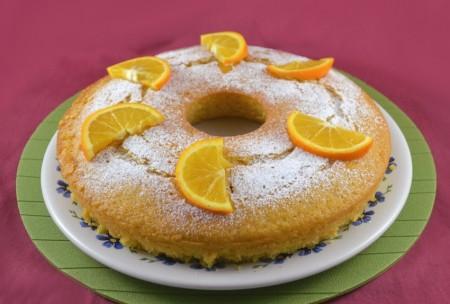 Ciambella all'arancia senza uova