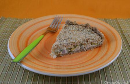 Sbriciolata salata zucchine e speck