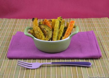 Bastoncini di verdure croccanti