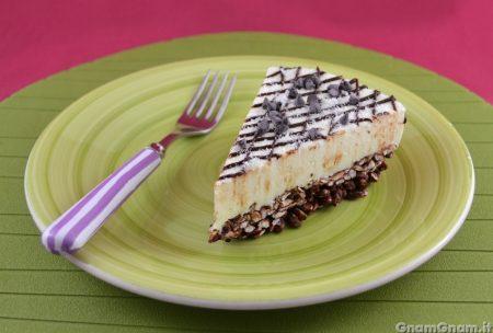 Cheesecake con riso soffiato