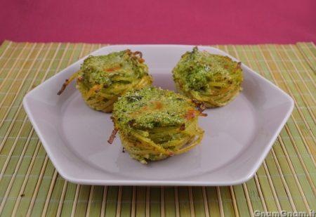 Sformatini di pasta ai broccoli