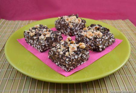 Barrette al cioccolato croccanti