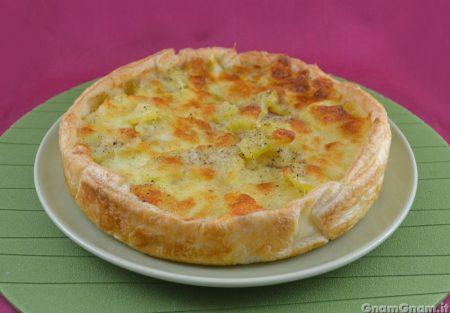 Torta salata prosciutto e patate