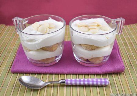 Dessert al cioccolato bianco