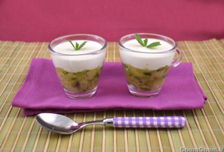 Bicchierini con zucchine e crema di parmigiano