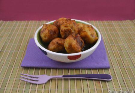 Polpette di pollo e peperoni