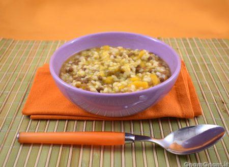 Riso lenticchie e zucca
