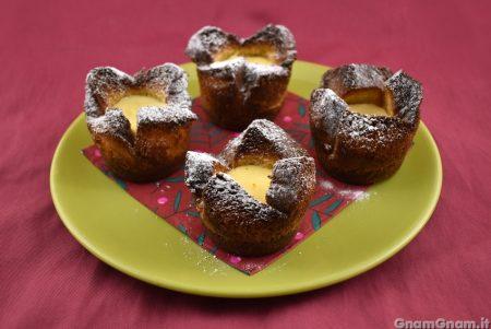 Cestini di pandoro al limone