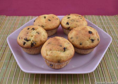 Muffin mascarpone e gocce di cioccolato