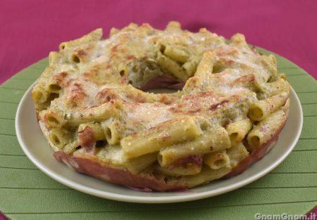 Pasta al forno mortadella e pistacchio
