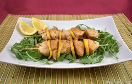 Spiedini di pollo al limone