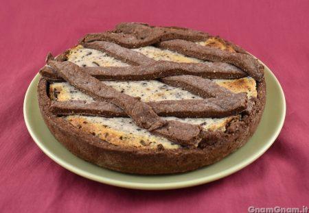 Crostata cocco e cioccolato senza uova