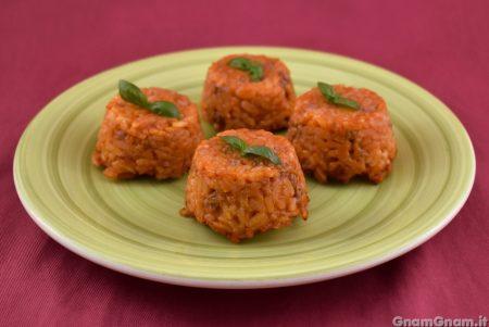 Sformatini di riso al ragù