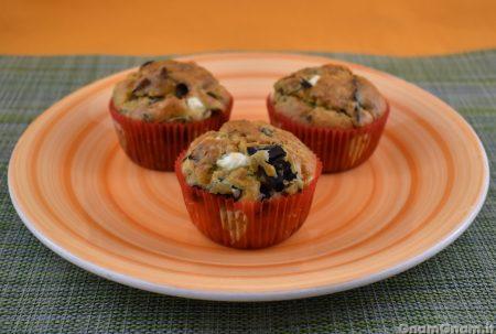 Muffin salati melanzane e feta