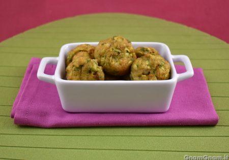 Polpette zucchine e gamberi