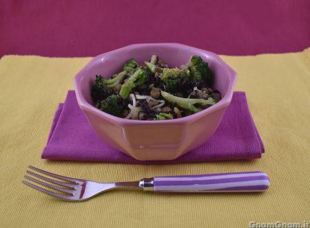 Riso venere con lenticchie e broccoli
