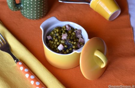 Piselli e pancetta