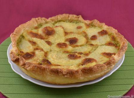 Torta salata patate e pesto