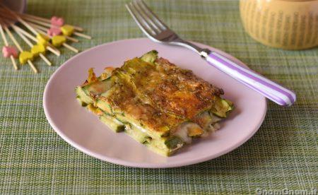 Parmigiana di zucchine e fiori di zucca