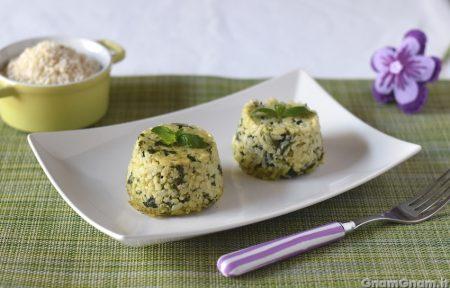 Sformatini di riso agli spinaci