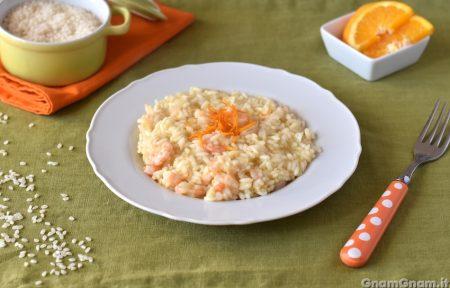 Risotto arancia e gamberi
