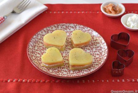 Cuori di patate e salmone