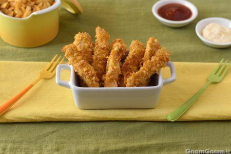 Straccetti di pollo ai corn flakes