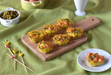 Frittatine di carote e piselli