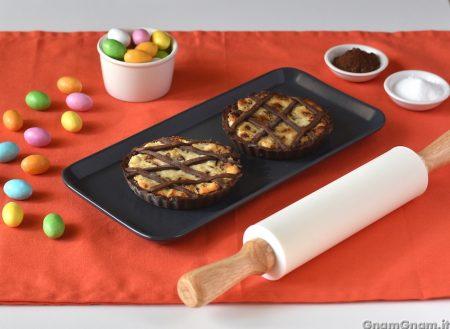 Crostatine con cioccolato delle uova di Pasqua