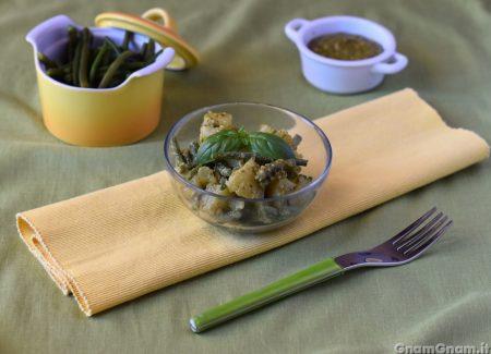 Insalata di patate fagiolini e pesto