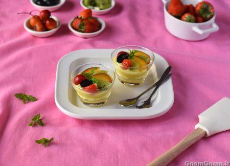 Coppette crema e frutta