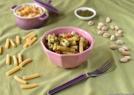 Insalata di pasta con pesto di pistacchi