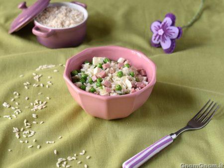 Insalata di riso prosciutto e piselli
